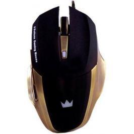 Мышь проводная Crown Gaming CMXG-604 чёрный золотистый USB