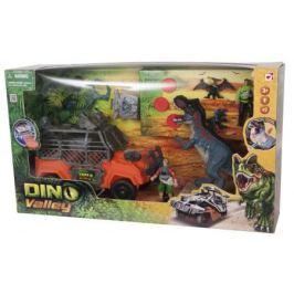 Игровой набор CHAP MEI Большая охота на Тиранозавра (джип, 5 фигур, звук, стреляет) 520010