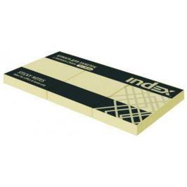 Бумага с липким слоем Index 100 листов 51х38 мм желтый I431601