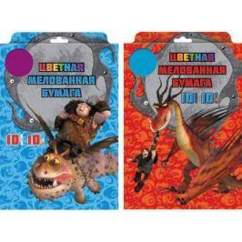 Цветная бумага Action! DRAGONS A4 10 листов DR-CCP-10/10 в ассортименте, мелованная