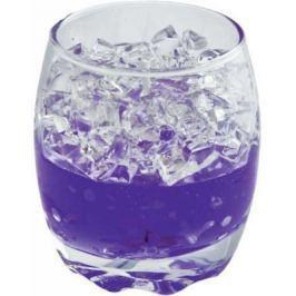 Подсвечник Winter Wings Льдинки, с гелевым наполнителем, фиолетовый 6.5х6.5х8 см N160959