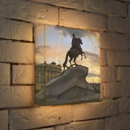 Лайтбокс Медный всадник 2 25x25-064