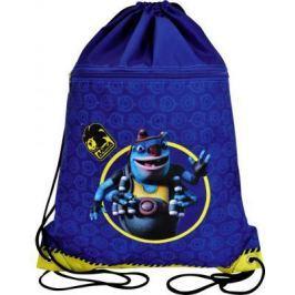 Мешок для обуви АЛИСА, разм.43х34 см, с доп.карманом на молнии, синий AZ-ASS4305/2