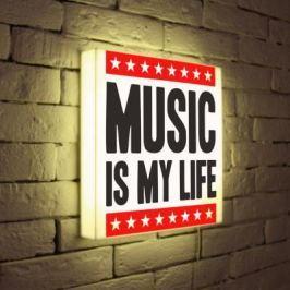 Лайтбокс Music is my life 35x35-072