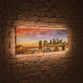 Лайтбокс панорамный Бруклинский мост 45x135-p007