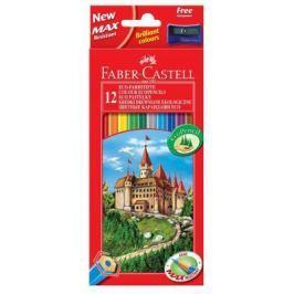 Карандаши цветные Faber-Castell Eco Замок с точилкой 12 шт 120112