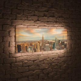 Лайтбокс панорамный Над городом 35x105-p018