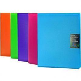 Папка с 40 файлами COLOURPLAY, ф.A4, 0,8мм, прозрачная, ассорти ICPD40/ASS