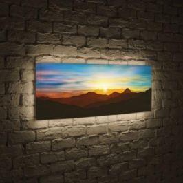 Лайтбокс панорамный Солнце над горами 60x180-p029