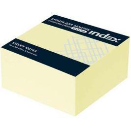 Бумага с липким слоем Index 250 листов 51х51 мм желтый МИНИ-КУБ I436601