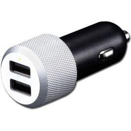 Автомобильное зарядное устройство Just Mobile Highway Max CC-128S 2 х USB 2.4А серебристый