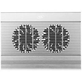"""Подставка для ноутбука 17"""" Deepcool N8 380x278x55mm 4xUSB 1244g 25dB серебристый"""