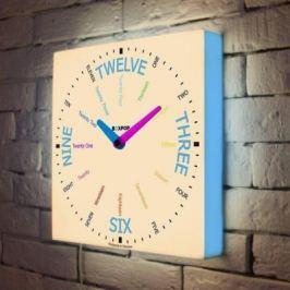 Часы настенные FotonioBox BoxPop VII LB-507-35 голубой белый LB-507-35