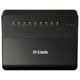 Беспроводной маршрутизатор ADSL D-Link DSL-2740U/RA/V2A 802.11bgn 300Mbps 2.4 ГГц 4xLAN черный