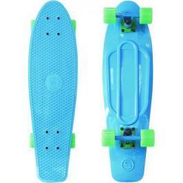 "Скейтборд Y-SCOO Big Fishskateboard Print 27"" RT винил 68,6х19 с сумкой BLUE/green 402-B"