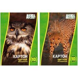 Набор цветного картона Action! Animal Planet A4 10 листов AP-CC-10/10-2 в ассортименте