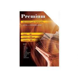 Обложки Office Kit СBKA400230 А4 230г/м2 картон под кожу черный 100шт
