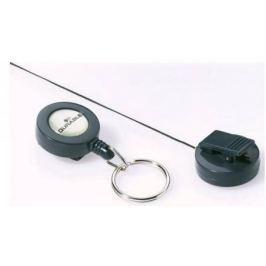 Рулеточный крепеж для бейджа Durable с кольцом для ключей 10шт 822258