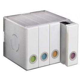 Коробка HAMA Album Box для 96 CD/DVD пластик прозрачный/белый H-96104