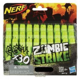 Набор стрел для бластеров Nerf Зомби Страйк 30 шт зеленый черный для мальчика A4570