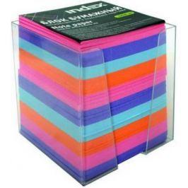 Блок бумажный Index 90х90х90 мм многоцветный I9902/R