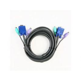 Кабель ATEN 2L-1003P/C Кабель для KVM: 2*PS/2(m)+DB15(m) (PC) -на- 2*PS/2(m)+DB15(f) (KVM), 3м