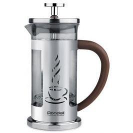 Френч-пресс Rondell Mocco&Latte RDS-491 серебристый 1 л нержавеющая сталь