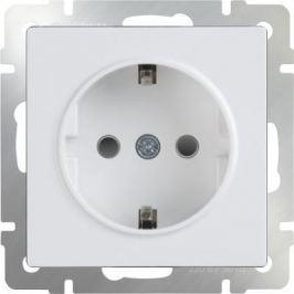 Розетка с заземлением и шторками белая WL01-SKGS-01-IP44 4690389047145