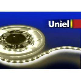 Светодиодная лента Uniel (04903) 5M теплый белый 24W ULS-3528-60LED/m-8mm-IP33-DC12V-4,8W/m-5M-WW