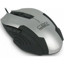 Мышь проводная CBR CM 333 чёрный серебристый USB