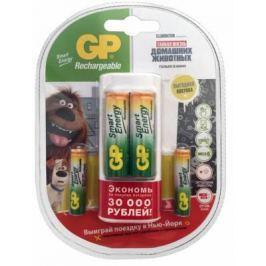 Зарядное устройство + аккумуляторы GPBI GP U211100/40SEFR-2CR4 1000 мАч AA/AAA 4 шт