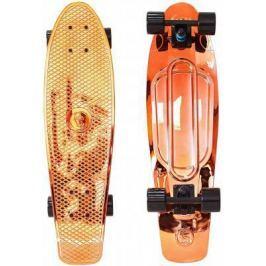 "Скейтборд Y-SCOO Big Fishskateboard metallic 27"" RT винил 68,6х19 с сумкой ORANGE/black 402H-O"