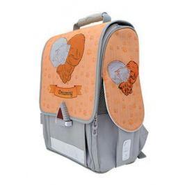 Ранец с анатомической спинкой Action! 21009/A/1G серый оранжевый