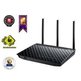 Беспроводной маршрутизатор ASUS RT-N18U 802.11bgn 600Mbps 2.4 ГГц 4xLAN USB3.0 черный