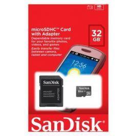 Карта памяти Micro SDHC 32Gb Class 4 Sandisk SDSDQM-032G-B35A + SD адаптер