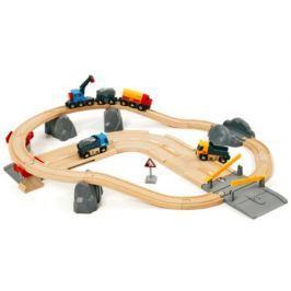 Железная дорога Brio с автодорогой и переездом 33210