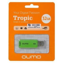 Флешка USB 32Gb QUMO Tropic USB2.0 зеленый QM32GUD-TRP-Green