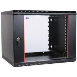 Шкаф настенный 9U ЦМО ШРН-Э-9.500-9005 600x520mm дверь стекло черный
