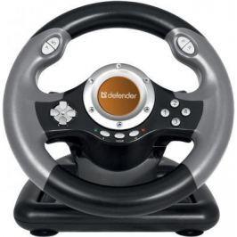 Руль Defender Challenge Mini LE 8 кнопок + два подрулевых переключателя + восьмипозиционный переключатель видов,Струбцина для крепления