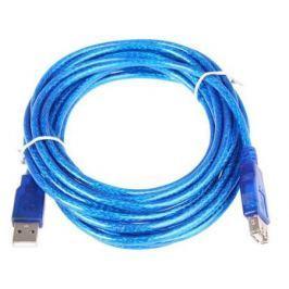 Кабель удлинительный USB 2.0 AM-AF 3.0м VCOM Telecom прозрачная изоляция голубой VUS6956T-3MTBO