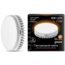 Лампа светодиодная таблетка Gauss 108008106 GX53 6W 2700K