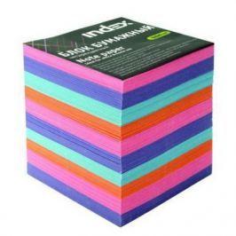 Блок бумажный Index 90х90х90 мм многоцветный