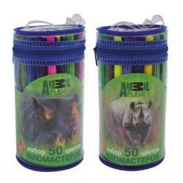 Набор фломастеров ACTION! ANIMAL PLANET цв. вентил. колпачки, 50 цв., картон с европодвесом AP-AWP105-50