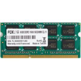 Оперативная память для ноутбуков SO-DDR3 8Gb PC12800 1600MHz Foxline FL1600D3S11-8G CL11