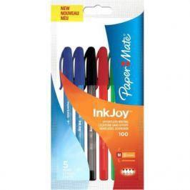 Набор шариковых ручек Paper Mate InkJoy 100 5 шт разноцветный 1 мм 1842139 1842139