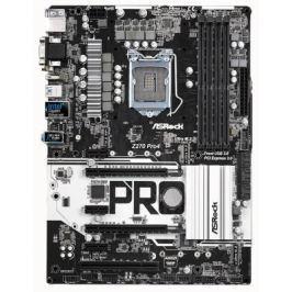 Материнская плата ASRock Z270 PRO4 Socket 1151 Z270 4xDDR4 2xPCI-E 16x 1xPCI 3xPCI-E 1x 6 ATX Retail