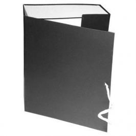 Короб архивный на завязках, бумвинил, 320х242х120 мм, черный КАрхБ/В-120Ч