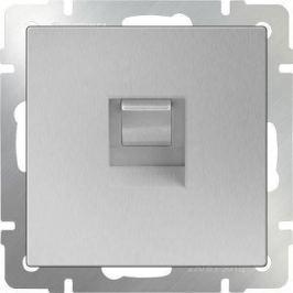 Телефонная розетка RJ-11 серебряный WL06-RJ-11 4690389053924