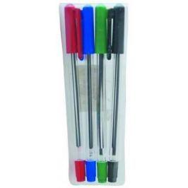 Набор шариковых ручек СТАММ РС07 4 шт разноцветный 1 мм РС07