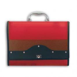 Папка-портфель METALLIC с металлическим замком, 13 отделений, А4, красная IEF01/RD